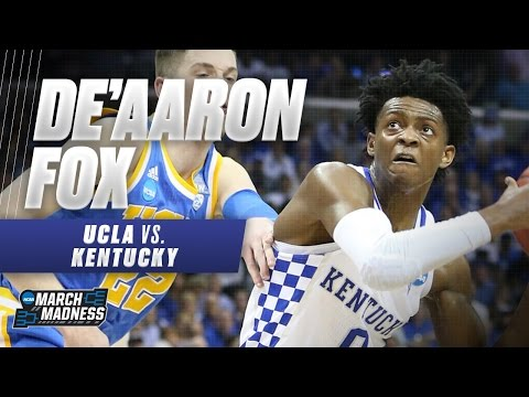 Kentucky\'s De\'Aaron Fox drops 39 on UCLA in Sweet 16