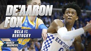 Kentucky's De'Aaron Fox drops 39 on UCLA in Sweet 16