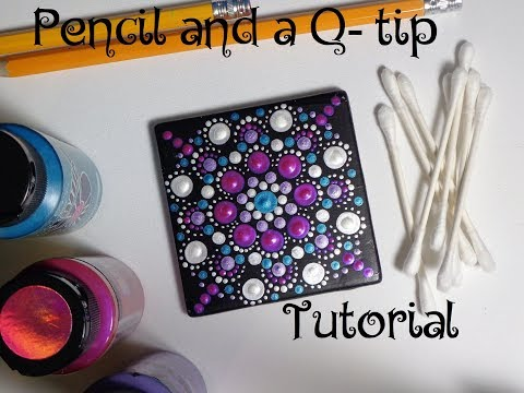 How To Paint Dot Mandalas Using ONLY a Qtip & Pencil FULL TUTORIAL Valentines Day Dollar Tree