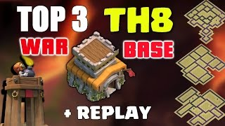 Clash Of Clans - TOP 3 TH8 BOMB TOWER WAR BASE ♦ BEST Town Hall 8 Bases of November 2016