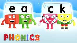 Phonics - Learn to Read | Two Letter Sqauds! | Alphablocks