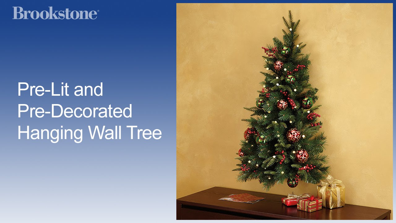hot sale online 86d07 2bb57 Pre-Lit and Pre-Decorated Hanging Wall Tree