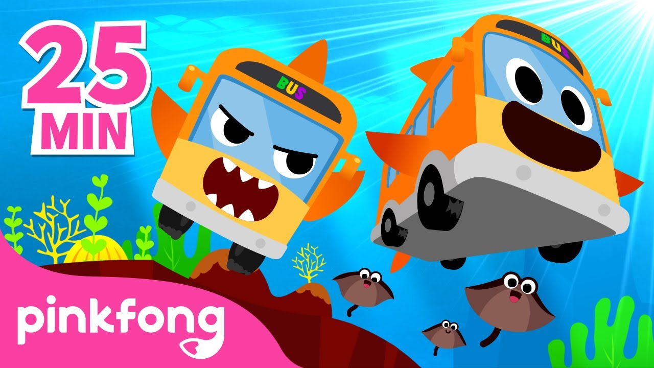 🚌Ônibus Tubarão e mais músicas infantis | +Compilação | Pinkfong Canções para crianças