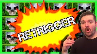 🔥🔥🔥 BIGGEST WIN ON YOUTUBE On Hotter N Hell Slot Machine! 🔥🔥🔥RARE RETRIGGER W/ SDGuy1234
