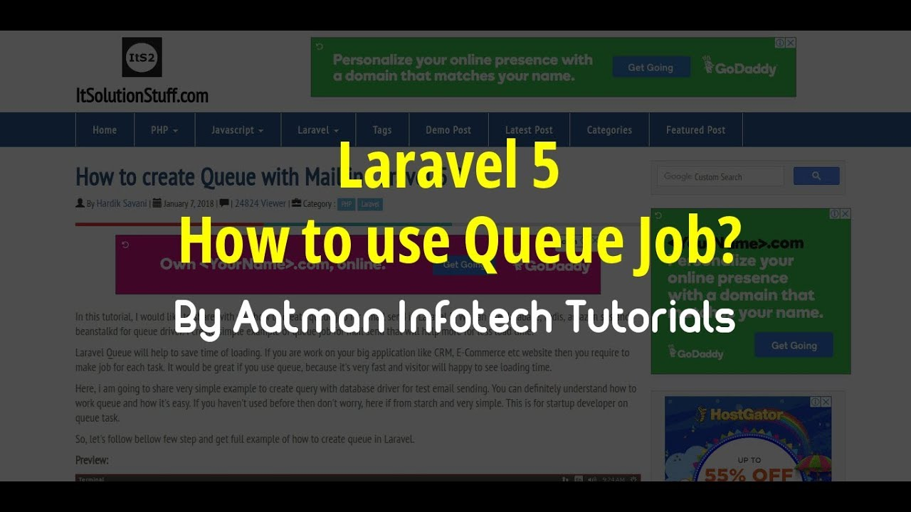 How to create Queue with Mail in Laravel 5 ?