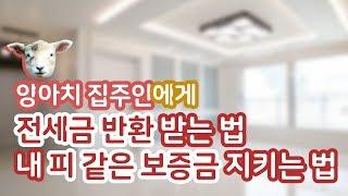 악질 집주인에 전세보증금 반환받는방법, 전세보증금 지키는 예방법!
