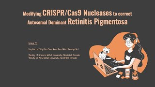 70_Modifying CRISPR/Cas9 Nucleases to correct Autosomal Dominant Retinitis Pigmentosa