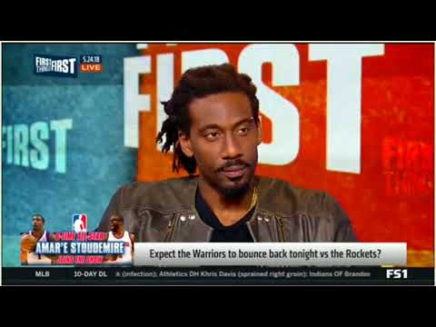 Amar'e Stoudemire Expect the Warriors to bounce back tonight vs the Rockets  FIRST THINGS FIRST