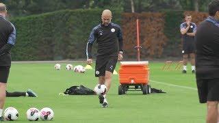 El gesto técnico de Guardiola en el entrenamiento que se ha hecho VIRAL ⚽ MAN CITY ⚽ 2019