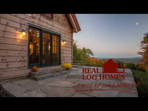 Pomfret Vermont Log Cabin Virtual Tour L12316