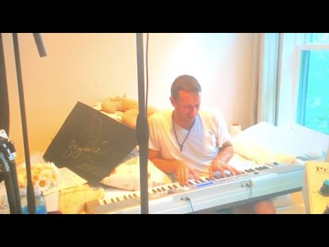 Beyoncé And Chris Martin Recording A Song