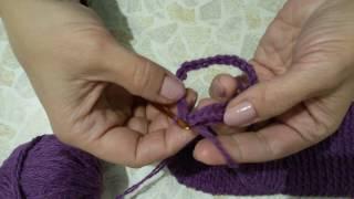 Вязание крючком. Варежки для ребенка