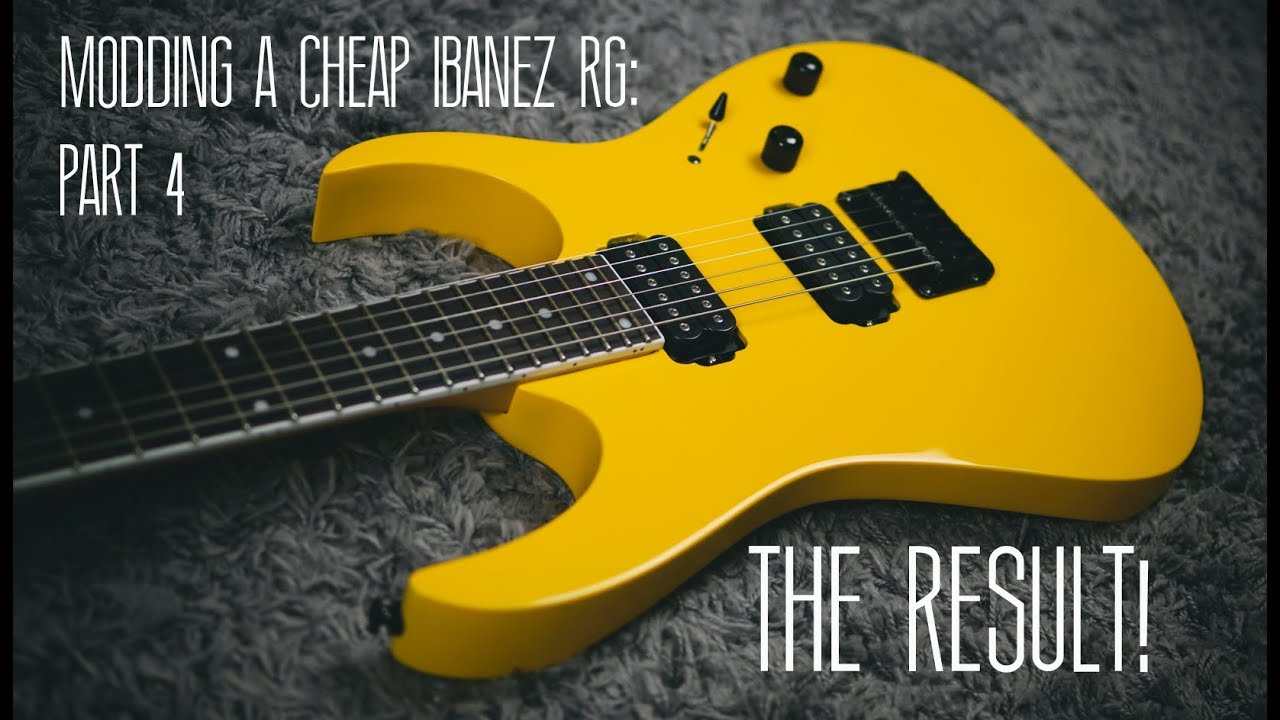 Modding A Cheap Ibanez RG | Part 4: Final Steps and First Sounds!