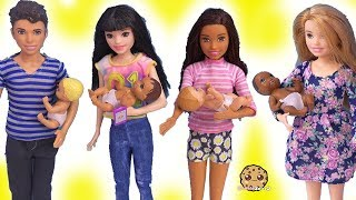 Barbie Baby Sitters ! Skipper's Babysitting Babies Doll Sets