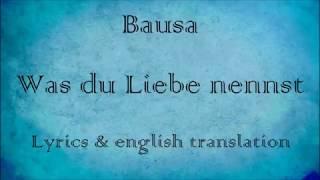 Bausa - Was du Liebe nennst (Lyrics & english translation)
