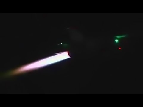 F-16s Takeoff At Night - Full Afterburners