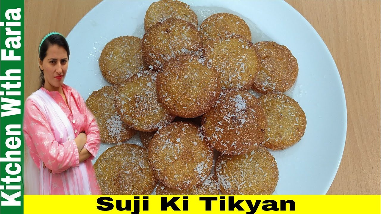 Suji Ki Meethi Tikyan | Sooji Sweet | Rava Sweet Recipe | Faria Ali | Kitchen With Faria