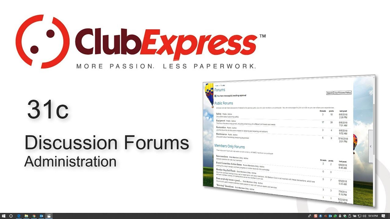 New Discussion Forum videos - ClubExpress - Club and