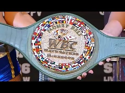 "WBC CREATES BELT NAMED AFTER MAYWEATHER, ""THE MONEY BELT""; 3360 DIAMONDS, 24 GOLD, ALLIGATOR SKIN"