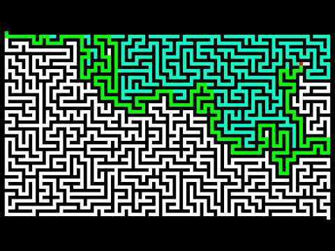 Maze solving with wall follower algorithm [left-hand rule]