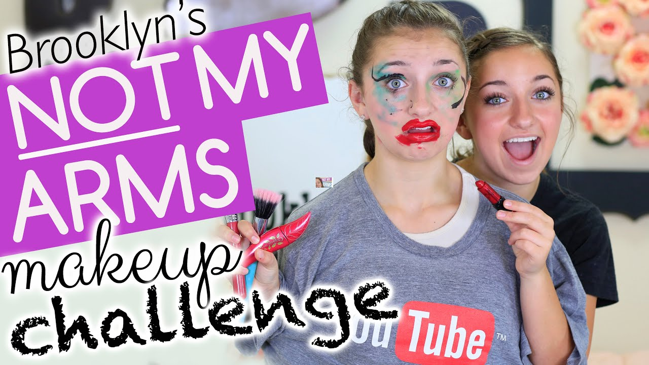 Brooklynu0026#39;s Not-My-Arms Makeup Challenge! - YouTube