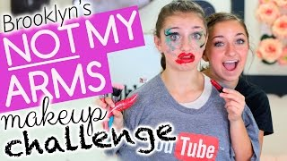 Brooklyn's Not-My-Arms Makeup Challenge! thumbnail