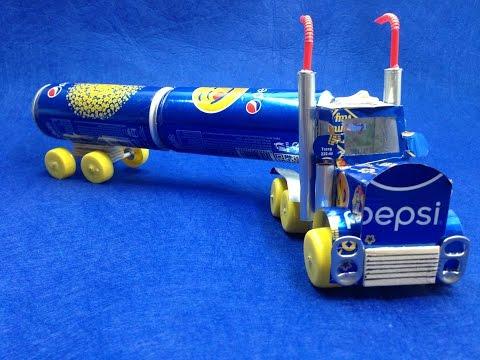 Cómo hacer un camión Pepsi con motor de corriente continua
