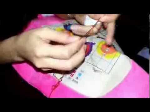 Hướng dẫn thêu tranh chữ thập in màu - Tranh thêu chữ thập Candy