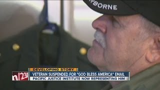 "California veteran suspended from hosptal job for using ""God Bless America"" in email signature"