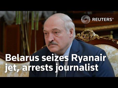 Belarus seizes Ryanair jet, arrests journalist