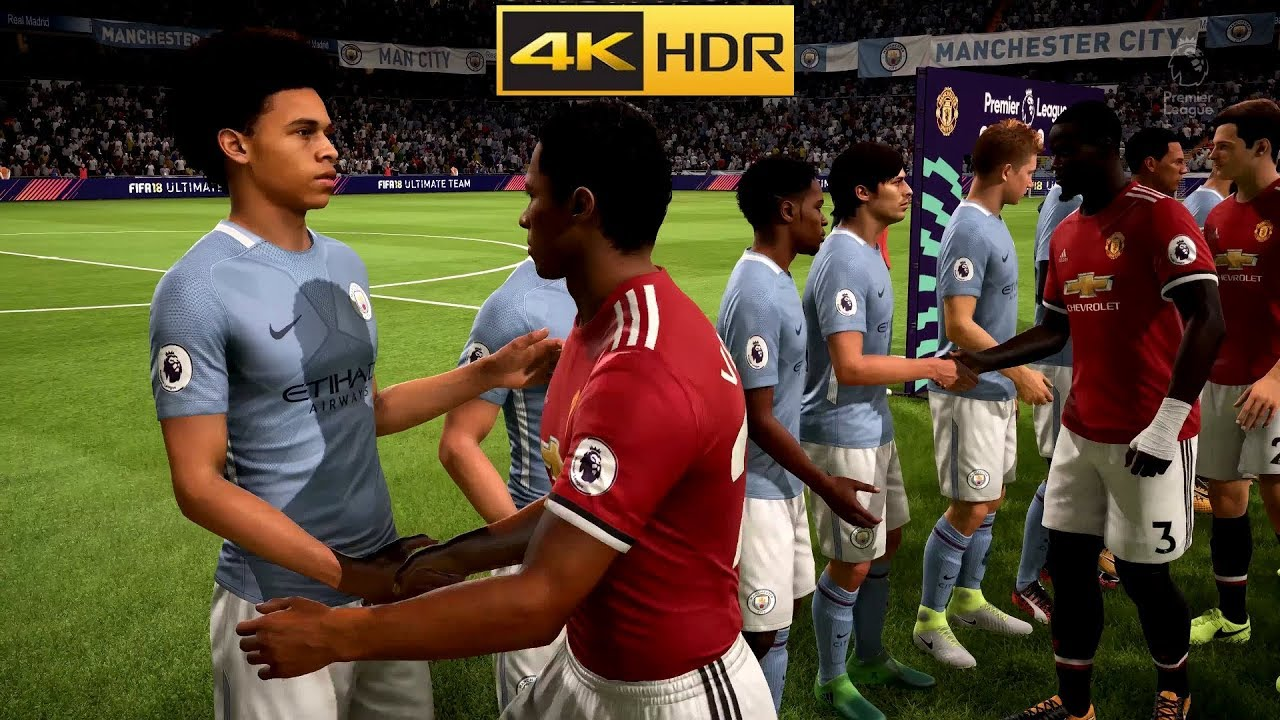4k hdr fifa 18 gameplay max graphics pc youtube