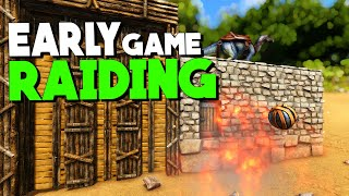 Early Game Raiding! | Solo New Official PvP Servers | ARK: Survival Evolved | Ep 4