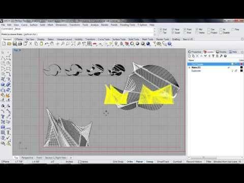 129 - Rhino - Phillips Pavilion Analysis Drawing Board Layout 02