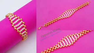 How To Make Beautiful  Designer Bracelet At Home / DIY/ Friendship Bracelets /uppunutihome