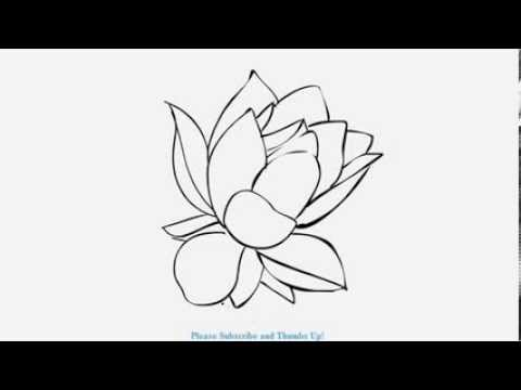 How to draw a beautiful lotus flower yzarts yzarts youtube how to draw a beautiful lotus flower yzarts yzarts mightylinksfo