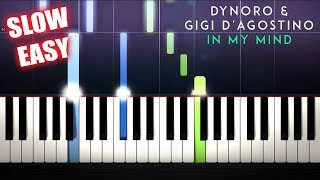 Dynoro, Gigi D'Agostino - In My Mind - SLOW EASY Piano Tutorial by PlutaX Video