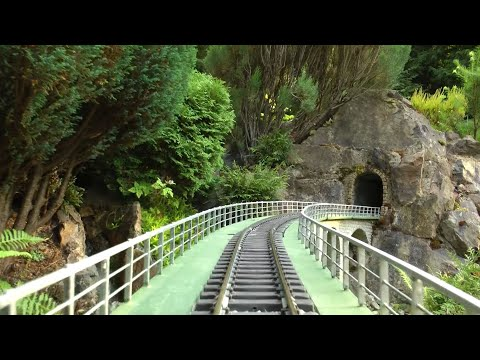Cab ride, Garden Train, Riding Westward, Gartenbahn, Fuehrerstandsmitfahrt