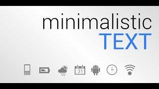 Minimalistic text