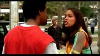 Denzel knocks a guy out....