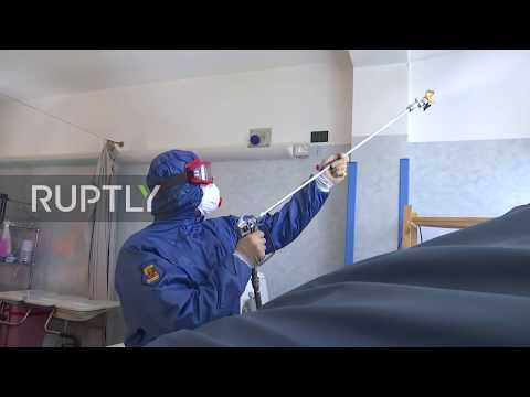 Italy: Russian military disinfect Albino retirement home