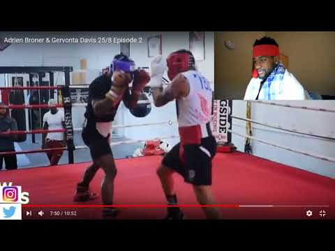 GERVONTA DAVIS HEATED SPARRING LEAKED; GETS INTO IT WITH MONTANA LOVE AS ADRIEN BRONER WATCHES