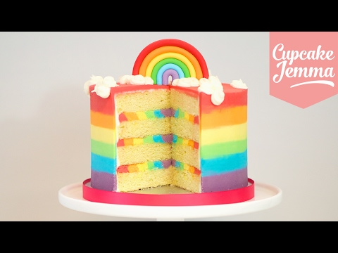 Download Triple Rainbow Ombré Cake how to! | Cupcake Jemma Pics