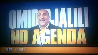 DVD Opening to Omid Djalili No Agenda UK DVD