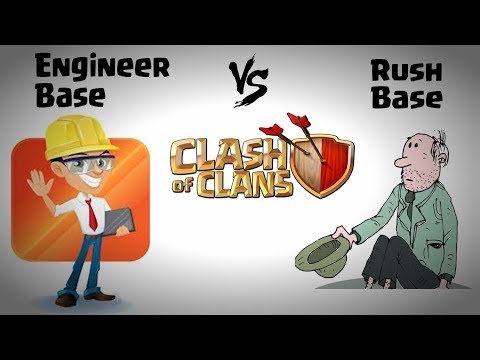 Engineer Base vs Rush Base Clash Of Clans | how to make engi