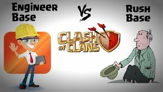Engineer Base vs Rush Base Clash Of Clans | how to make engineer base