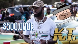 West Orlando rapper #KT flashing over 500,000k #HvTv #HustlerVisionTv