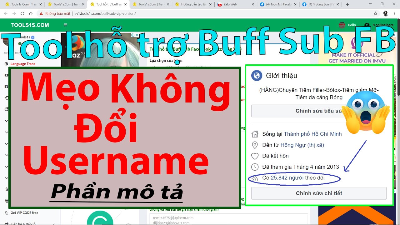 💥Tool Hỗ Trợ Buff Sub Facebook Notime (Thêm email, get token hàng loạt)