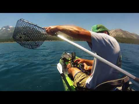 Kayak Fishing Lake Tahoe... Big Mackanaw