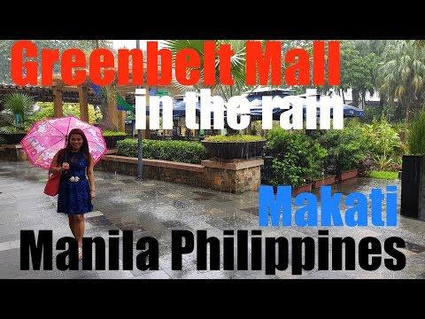 Greenbelt Mall in the rain Makati Manila Philippines