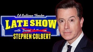 Stephen Colbert NEW Late Show Host! Takes over for David Letterman!